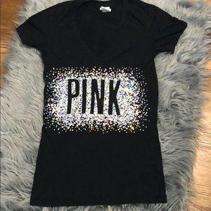 Pink glitter tee
